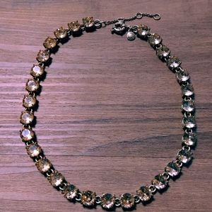 J.Crew Champagne nude Peach crystal dot necklace